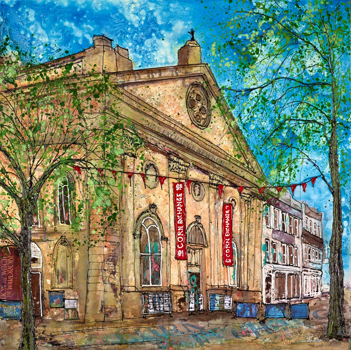 The Corn Exchange by katharine dove -  sized 24x24 inches. Available from Whitewall Galleries